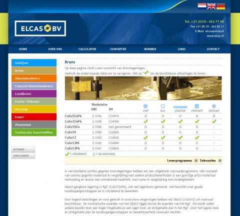 Elcas bv - screenshot website